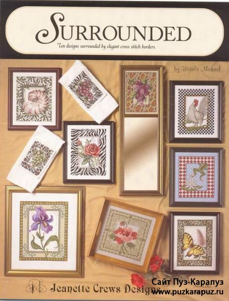 Surrounded. Ten designs surrounded by elegant cross-stitch borders