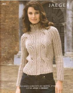 Jaeger Handknits: 12 designer patterns in Aran and Chunky weights JB20