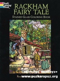 Rackham Fairy Tale Stained Glass Coloring Book