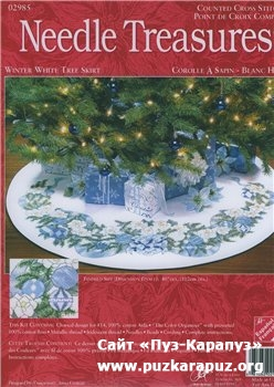Needle Treasures 02985  Winter white tree skirt